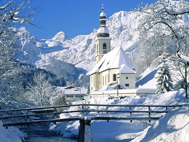 冬天里的房子图片